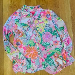 Lilly Pulitzer for Target button down floral shirt